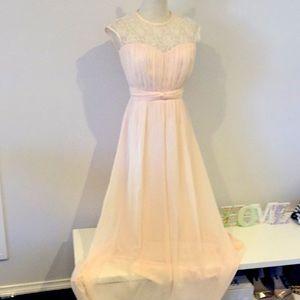 Little Mistress UK peach pink formal dress